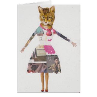 Cartões loucos da senhora do gato
