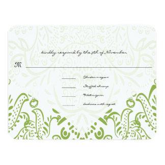 Cartões lunáticos verde-maçã da resposta do