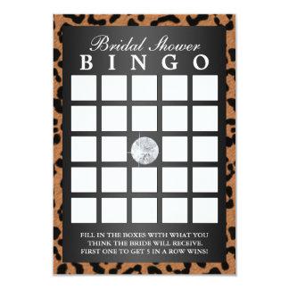 Cartões luxuosos do Bingo do chá de panela do Convite 8.89 X 12.7cm