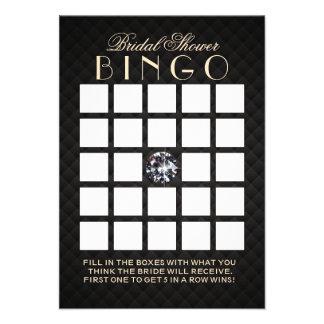Cartões luxuosos do Bingo do chá de panela do diam