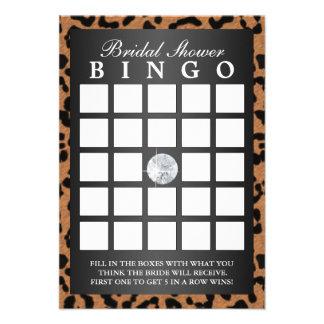 Cartões luxuosos do Bingo do chá de panela do impr