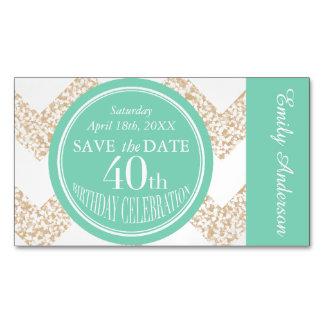 Cartões magnéticos da celebração do aniversário de