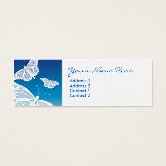 Cartões magros da borboleta branca