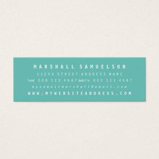 Cartões magros profissionais de duas cores