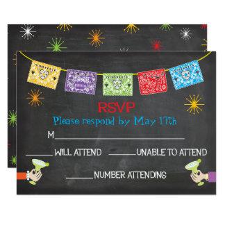 Cartões mexicanos da festa RSVP