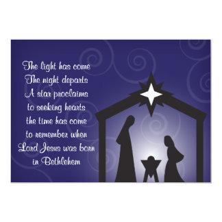 Cartões modernos da natividade do Natal da noite Convite