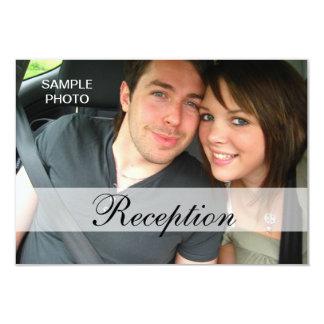 Cartões modernos da recepção de casamento da foto convite 8.89 x 12.7cm