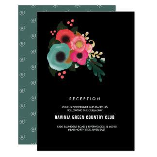Cartões modernos da recepção de casamento do