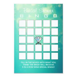 Cartões modernos do Bingo do anel de diamante do Convite 8.89 X 12.7cm