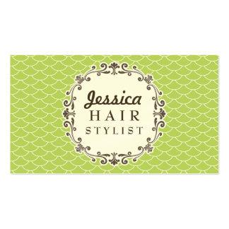 Cartões na moda da nomeação do cabeleireiro do tes modelo cartões de visitas