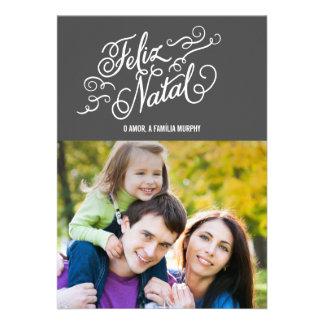 Cartões NATAIS de Natal de FELIZ Convite Personalizados