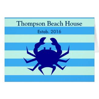 Cartões náuticos de ThemeGreeting da casa de praia