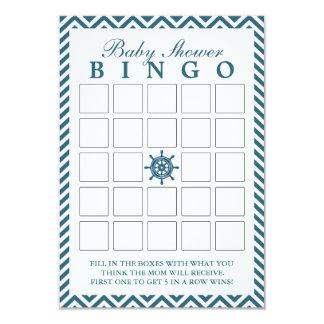 Cartões náuticos do Bingo do chá de fraldas de Convite 8.89 X 12.7cm
