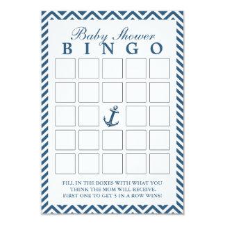 Cartões náuticos do Bingo do chá de fraldas do Convite 8.89 X 12.7cm