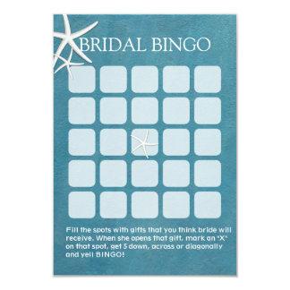 Cartões náuticos do Bingo do chá de panela da Convite 8.89 X 12.7cm