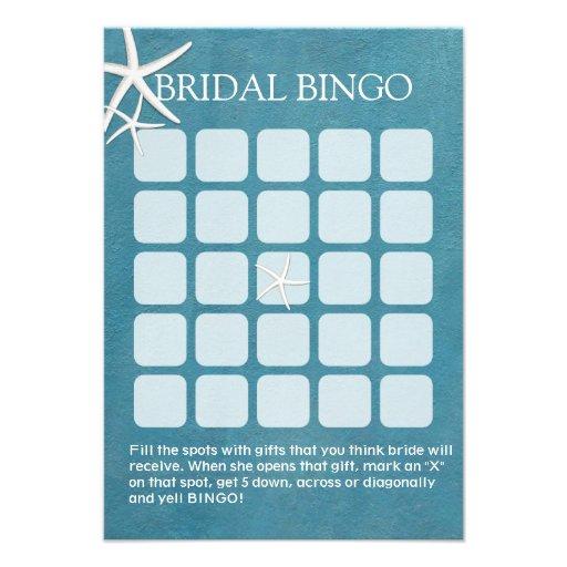 Cartões náuticos do Bingo do chá de panela da estr Convite Personalizado