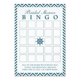 Cartões náuticos do Bingo do chá de panela do Convite 8.89 X 12.7cm