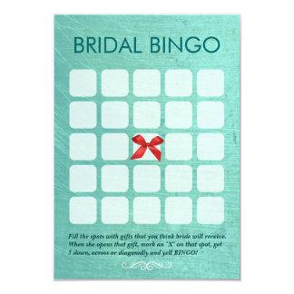 Cartões nupciais à moda do Bingo do verde 5x5 da Convite 8.89 X 12.7cm
