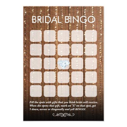 Cartões nupciais chiques do Bingo da corda 5x5 do  Convites