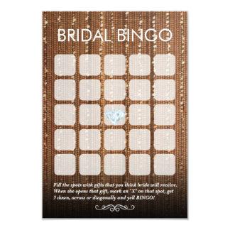 Cartões nupciais chiques do Bingo da corda 5x5 do Convite 8.89 X 12.7cm