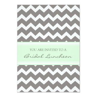 Cartões nupciais cinzentos do convite do almoço de convite 12.7 x 17.78cm