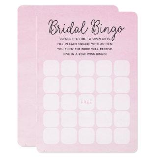 Cartões nupciais cor-de-rosa do Bingo do chá de