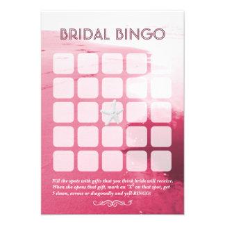 Cartões nupciais cor-de-rosa elegantes do Bingo do Convites Personalizados