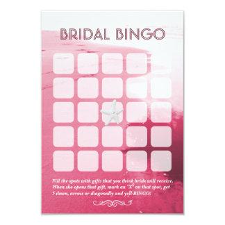Cartões nupciais cor-de-rosa elegantes do Bingo do Convite 8.89 X 12.7cm