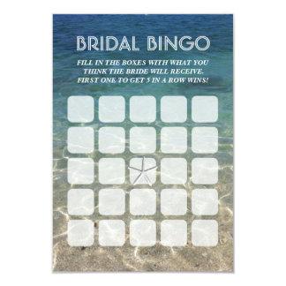 Cartões nupciais do Bingo da estrela do mar 5x5 da Convite 8.89 X 12.7cm