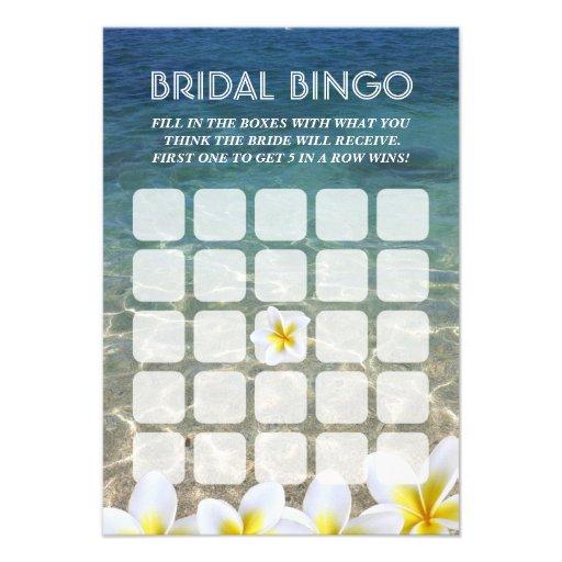 Cartões nupciais do Bingo do casamento de praia da Convites Personalizado