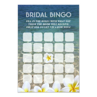 Cartões nupciais do Bingo do casamento de praia da Convite 8.89 X 12.7cm