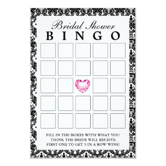 Cartões nupciais do Bingo do coração elegante do Convite 8.89 X 12.7cm