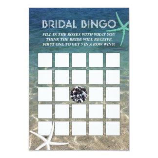 Cartões nupciais do Bingo do diamante tropical do Convite 8.89 X 12.7cm