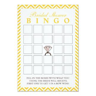 Cartões nupciais do Bingo do ziguezague amarelo do Convite 8.89 X 12.7cm