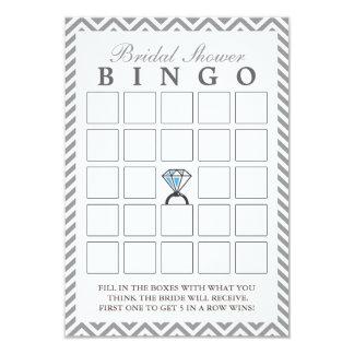 Cartões nupciais do Bingo do ziguezague de prata Convite 8.89 X 12.7cm