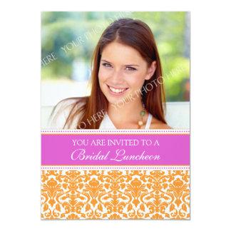 Cartões nupciais do convite do almoço da foto