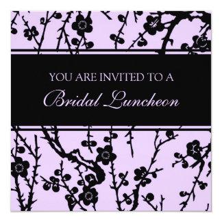 Cartões nupciais do convite do almoço da lavanda