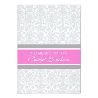 Cartões nupciais do convite do almoço do damasco