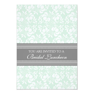 Cartões nupciais do convite do almoço do damasco convite 12.7 x 17.78cm