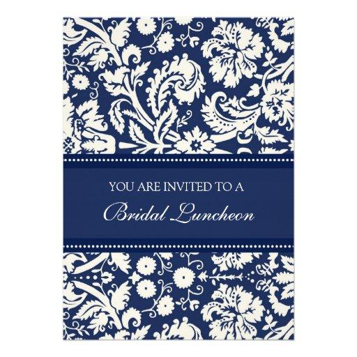 Cartões nupciais do convite do almoço do damasco a
