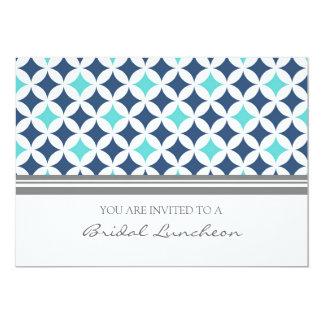 Cartões nupciais do convite do almoço do teste