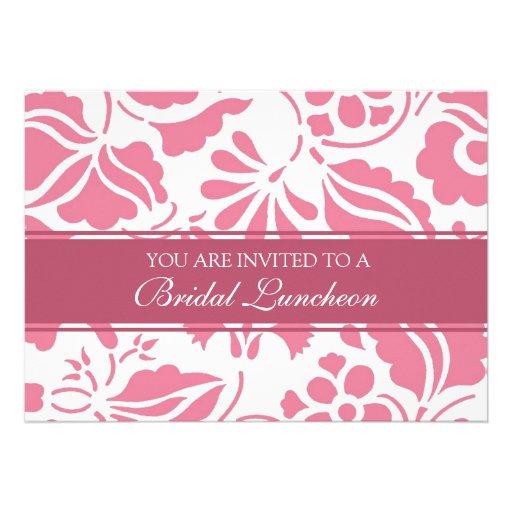 Cartões nupciais do rosa e os brancos do almoço do convites personalizados