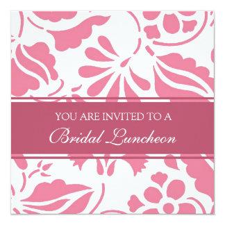 Cartões nupciais do rosa e os brancos do almoço do convite quadrado 13.35 x 13.35cm
