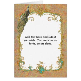 Cartões ornamentado da nota do pavão n Paisley