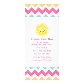 Cartões Pastel da cremalheira de Sun do smiley do 10.16 X 22.86cm Panfleto