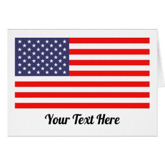 Cartões patrióticos da bandeira americana