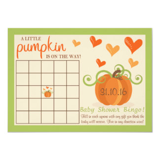 Cartões pequenos bonitos do Bingo do chá de Convite 11.30 X 15.87cm