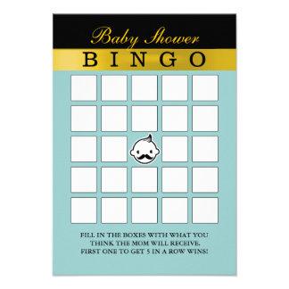 Cartões pequenos bonitos do Bingo do chá de fralda Convite