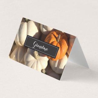 Cartões personalizados do lugar da acção de graças