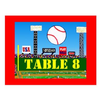 Cartões personalizados do número da mesa de